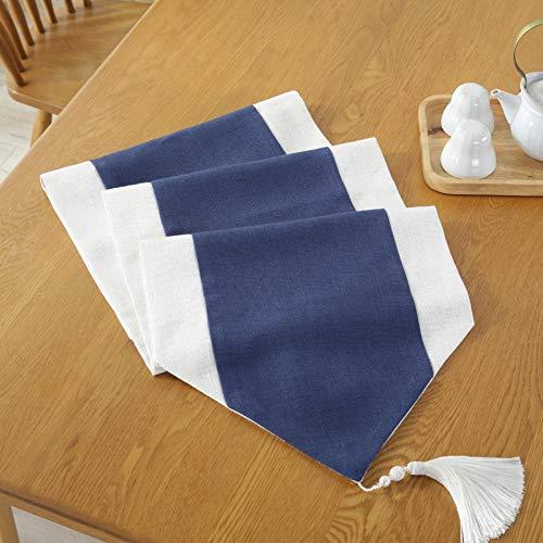 WDSJZQ Tischläufer, Chinesische Moderne Marine Blau Einfach, Tv-Schrank, Dekorative Streifen Tuch, Bett, Bett Handtuch, Für Die Hochzeit Party, 36 X 200 cm