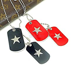 ELECTROPRIME Fashion Army Style Double DOG TAG Stainless Steel Chain Pendant Necklace