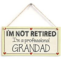 I'm not retired I'm a professional Grandad - Family Retirement Sign