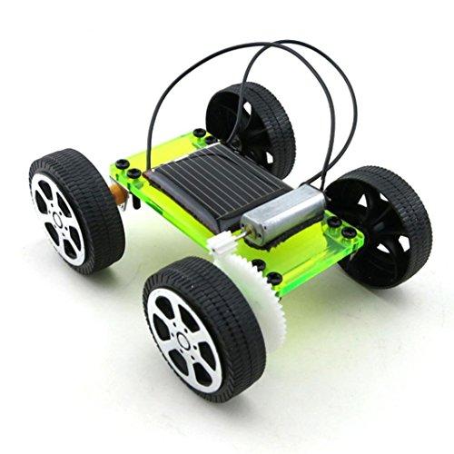 Mamum, Solar-betriebenes Spielzeugauto, für Kinder, zum Zusammenbauen, pädagogisches Lerngerät, für Hobby & Spaß, 1 Set Einheitsgröße grün