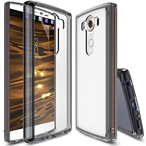 LG V10 Hülle, Ringke FUSION kristallklarer PC TPU Dämpfer (Fall geschützt/ Schock Absorbtions-Technologie) für das LG V10 – Rauchschwarz