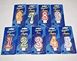 Zahlenkerzen für Geburtstag Jubiläum Set Neun Geburtstagskerzen 1 2 3 4 5 6 7 8 9