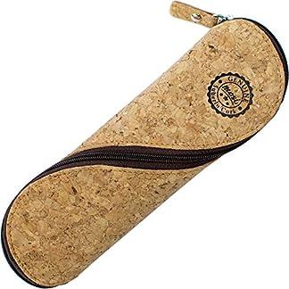 Estuche de gafas delgadas, estuche de lápices y cartuchera ~ Estuche suave de corcho portugués, estilo vintage, hecho a mano