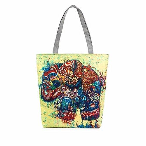 Longra Donna Borse Elephant tela di stampa C Más Reciente A La Venta 8jHl6db