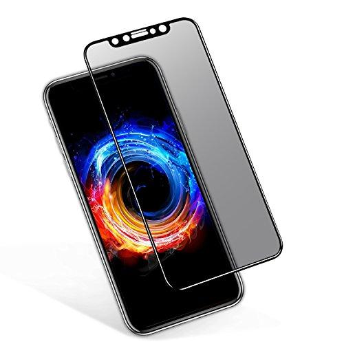 VIUME Anti Spy Schutzfolie Kompatibel für iPhone X/XS/10 Panzerglas Privacy Sichtschutzfolie 3D Vollständige 9H Härtegrad Blasenfrei Blickschutzfolie Displayschutzfolie (5,8 Zoll)