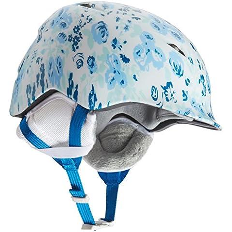 Bern chico Camino Zipmold invierno casco con forro, niña, color Blanco - Satin White Floral/White, tamaño