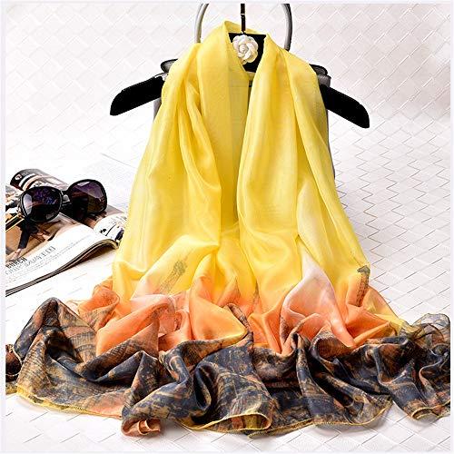 Strand-szene Stoff Handtaschen (Easy Go Shopping New Damen Leichter Schal Sommer Strand Schal Kapuzenschal (Farbe : Cd6, Größe : 200 * 140cm))
