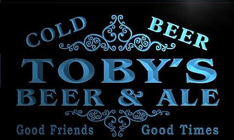 qs499-b Toby's Beer & Ale Vintage Design Bar Decor Neon