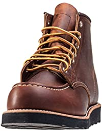 Bota De Hombre De Red Wing 6 Pulgadas Moc Toe UK8 EU42 US9 Copper Rough & Tough