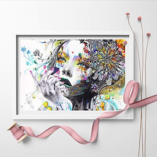 HD_ARTISAN Art Girl Flores Modernas lienzos Pared