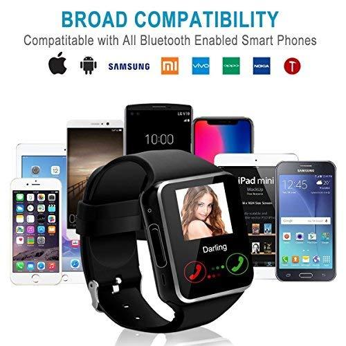 Smart Watch Phone Touchscreen,Bluetooth Smartwatch con Camera,Smart Orologio,Impermeabile Orologio Intelligente con SIM Card Fessura per Android Samaung ios Apple Iphone X 8 Donna Uomini Uomo