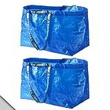 IKEA–FRAKTA Bleu Classique Sac à provisions (x2)