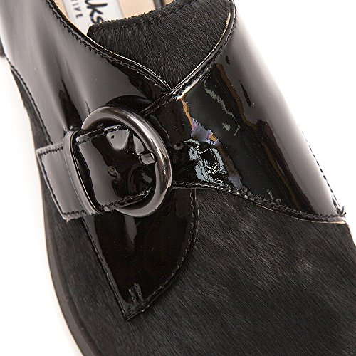 Clarks Busby Jazz, Scarpe Donna Nero  (Black Interest Leather)