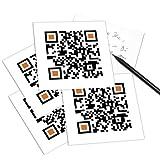 QRCP QR-Code Postkarte - mit Smartphone einscannen und Grußbotschaft erhalten: I MISS YOU. (Ich vermisse dich!)