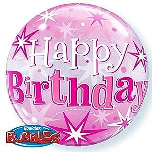 Qualatex 43121 - Globo de burbujas de 1 pulgada con diseño de estrella en color rosa
