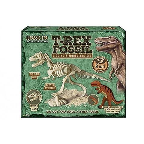 Jurassic Era T Rex Fossile Creusage et Modélisation Set - Dig Out & Assemble - Ages 3+