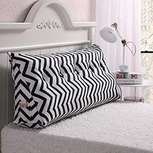 Bett Canvas Canvas Das Dreieck Kissen,waschbar Stereo Am Bett Kissen Rückseite des Sofas Tatami-matten Zwei Personen Langes Kissen-d 120x25x50cm(47x10x20inch) -