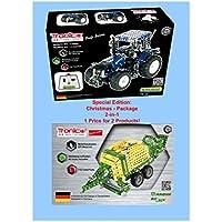 Kit de construcción de metal, RC Tractor New Holland T8.380, escala 1:16, 27 MHz, 2 canales de control de radio Tractor, mando a distancia, 732 piezas, incluyendo herramientas, manual de 4 colores, edad 8 +, Tronico