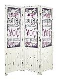 HAKU Möbel 30999 Paravent, vintage , 3 x 130 x 180 cm