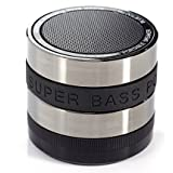 RcGoods l Super Bass aufladbarer Mini Hi-Fi Bluetooth Lautsprecher Speaker für iPhone, Android, Samsung, Laptop, Tablet, etc. (Schwarz)