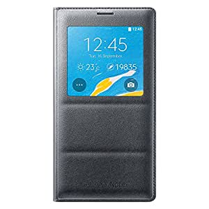 Samsung S-View Wireless Charging Cover for Galaxy Note 4 - Retail Packaging - Charcoal