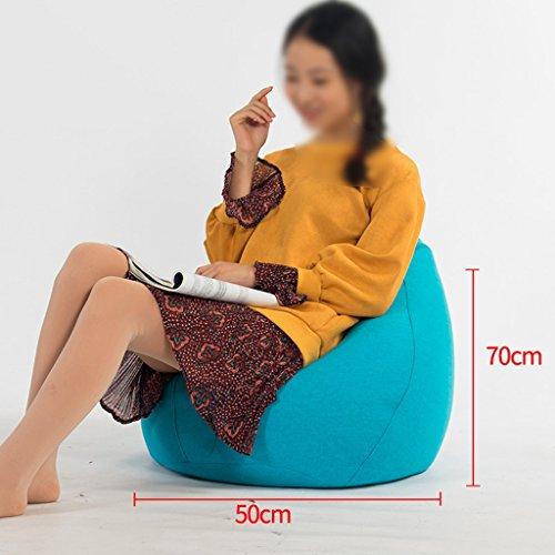 Bean Bag Enfants Lounger Canapé Unique Mode Chaise de Salon Salon Chambre Amovible Et Lavable Tissu 50 * 70 cm (Couleur : Bleu)