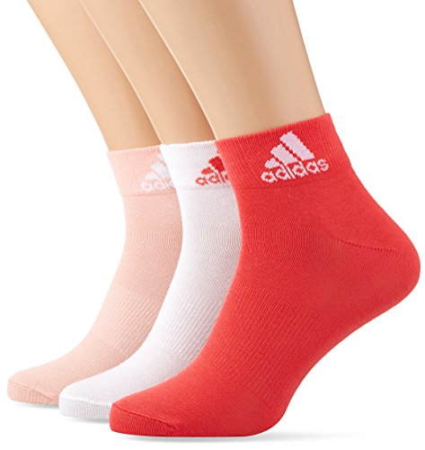 adidas 3 Paar Performance Knöchel Socken, Still Breeze/White/Core Pink, 35-38 (Performance-knöchel-socken)