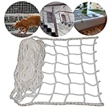 YOAI Universal Schutznetz Balkon Sicherheitsnetz für Kinder Tier Spielzeug Sicherheit auf Indoor Outdoor Treppen Terrasse Babysicherheit, Ranknetz Rankhilfe Pflanzennetz für wachsende Kletterpflanze