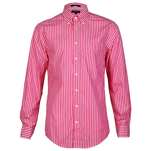 GANT The Breton LS BD Mens Shirt Flamingo Pink