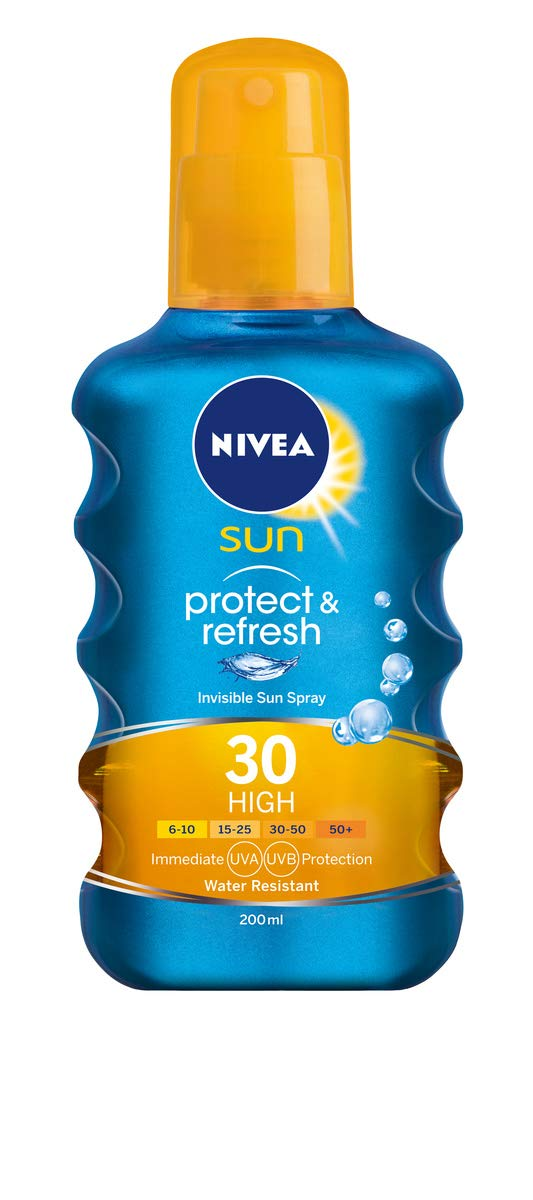 Nivea Sun SPF Protección Invisible 30 Sun Loción transparente Spray – 200ml (el embalaje puede variar)