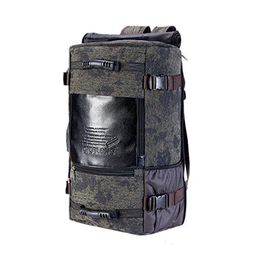 Mataga sport all' aperto Borsa da viaggio vintage tela zaino Zaino per escursionismo, campeggio, jh-1042 Black