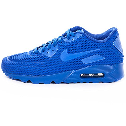 Nike Air Max 90 Ultra BR, Baskets Basses Homme, Bleu, EU Bleu (bleu / bleu Racing / bleu Racing - bleu Racing)