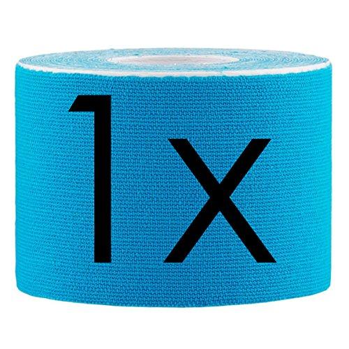 Lumaland Kinesiologie Tape elastisches Klebeband 5mx5cm in verschiedenen Farben Hellblau