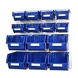 Racking Solutions - Panel de rejilla galvanizado (500 mm x 500xx) con 14 cubos de recogida