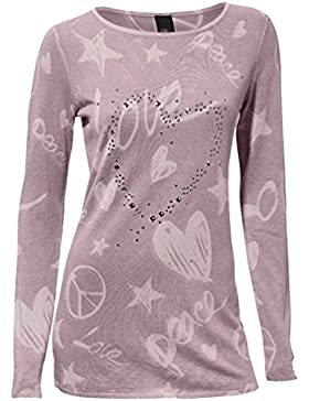 [Sponsorizzato]WanYang Floral Pizzo Maglia a Manica Lunga T-Shirt Donna Tops Blouse Casuale Casual Camicetta