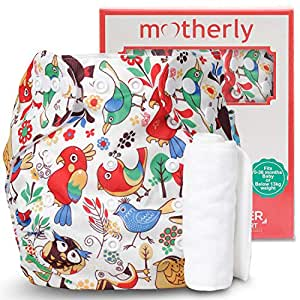 Motherly Reusable Baby Diaper with Insert Nappy Washable Cloth Diapers Nappies (Pattern-D03)