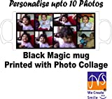 Personalised Collage Photos Colour Changing/wow/magic Black mug, photo &/or Text Print from JMS Photos