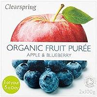 Clearspring Orgánica de manzana y arándano 200g puré