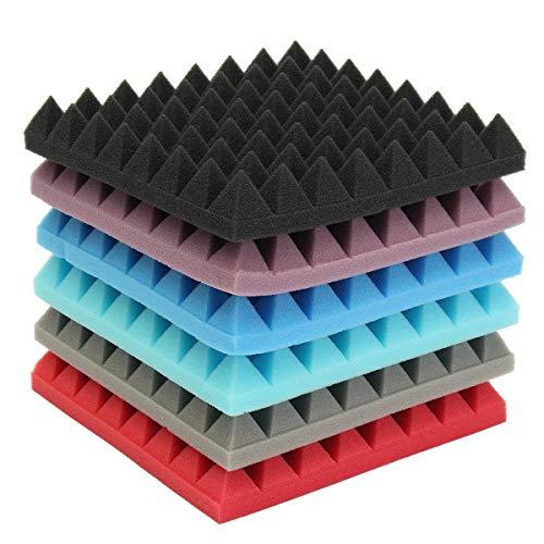 GIlH Schalldämpfende Baumwolle Akustikschaum-Pyramide, Fliesen für Studio Sound Room Musik (Baumwoll-sound-panels)