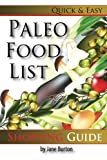Paleo Food List: Paleo Food Shopping List for the Supermarket; Diet Grocery list
