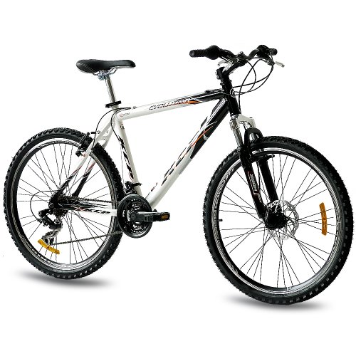26 KCP MOUNTAIN BIKE EVOLUTION ALLOY MEN WITH 18 SPEED SHIMANO WHITE BLACK   (26 INCH)