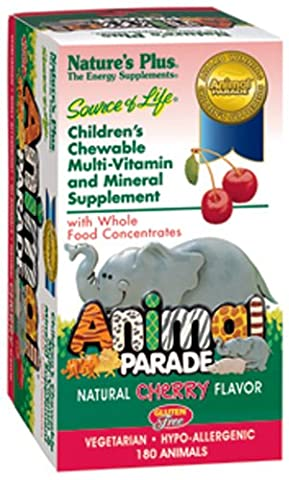 Nature's Plus Animal Parade Children's Chewable Multi-Vitamin and Mineral Cherry