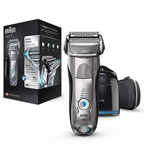 Braun series 7 7898cc rasoio elettrico barba a lamina senza fili wet&dry da uomo