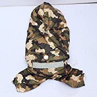 MYYXGS Dog Camouflage Clothing Dog Warm Clothes Pet Double-Layer Windproof Waterproof Clothes Dogs Go Out To Use