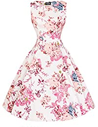 1d2f881c6c4e Hearts & Roses London Heavenly Floral Vintage Retro 1950s Flared Swing Dress