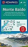 Monte Baldo: 3in1 Wanderkarte 1:25000 mit Aktiv Guide inklusive Karte zur offline Verwendung in der KOMPASS-App. Fahrradfahren. (KOMPASS-Wanderkarten, Band 129) -