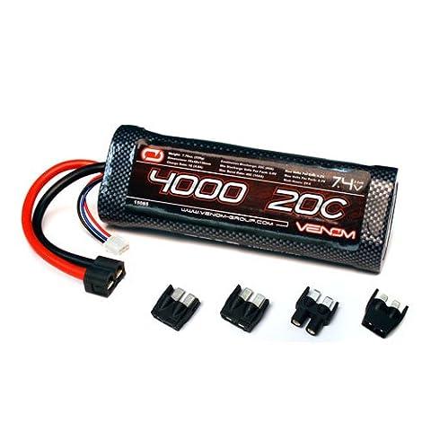 Venom 20C 2S 4000mAh 7.4 LiPO Battery for Tamiya