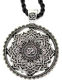 7a6dbbd2cb Gioiello collana ciondolo fiore mandala/Geometria Sacra/Lotus Om buddista  Zen Yoga Amulette/