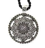 Bijou collar colgante flor mandala/Geometría Sagrada/Lotus OM Budista Zen Yoga...