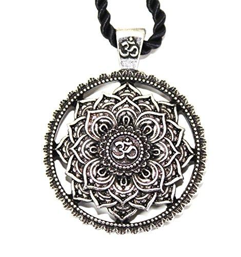 tte Anhänger Blume Mandala / Heilige Geometrie/ Lotus Om buddhistischen Zen Yoga Amulett / Geschenk Original Unisex Frau Mann ()
